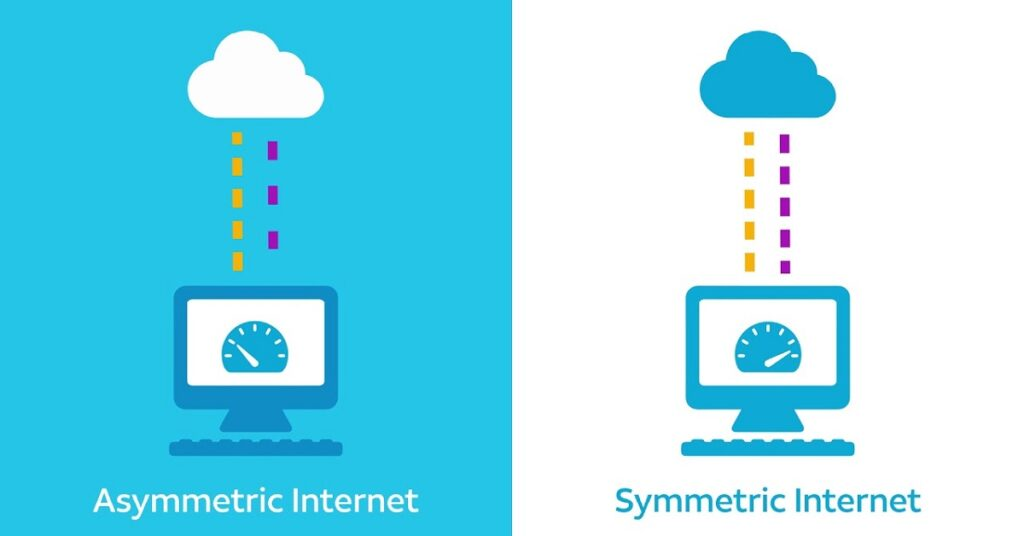 differenze connessione simmetrica e asimmetrica